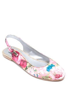 Blossom In Pink Sling Flats