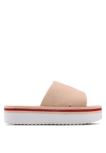 Rubi pink Havana Flatform Sandals 8EF55SHE6FFF71GS_1