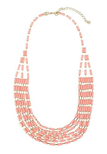 層次彩色串珠項鍊zalora是哪裡的牌子, 飾品配件, 項鍊