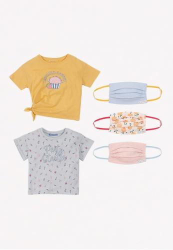 Gingersnaps multi Girls Sweet Party Mask And Tshirt Set 06865KA76FE55FGS_1