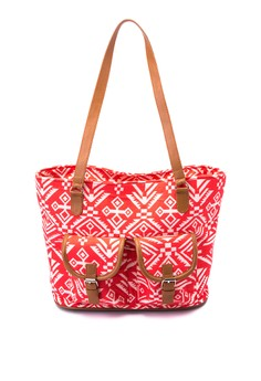 Canvas Tote With Pockets
