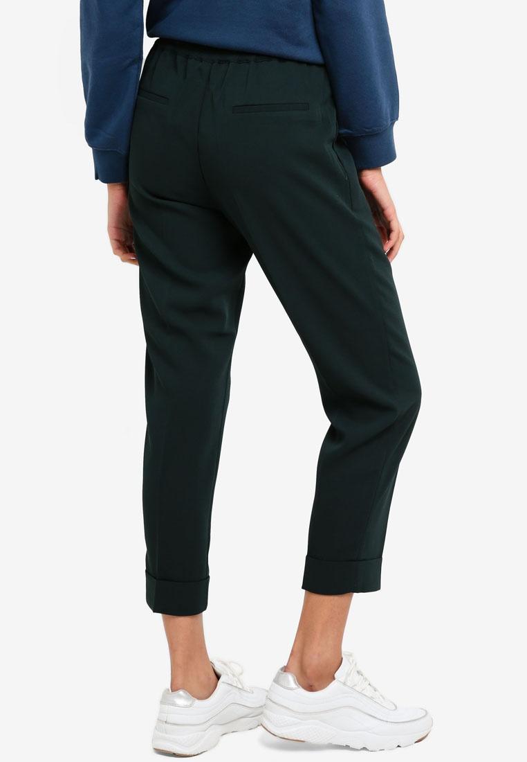 Cropped Green Dark Pants Teal Woven ESPRIT ZwOqRvzq