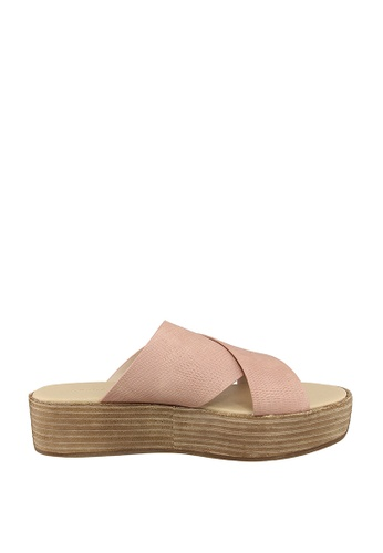 London Rag pink Freida Flatform Sandals 80881SH968529EGS_1