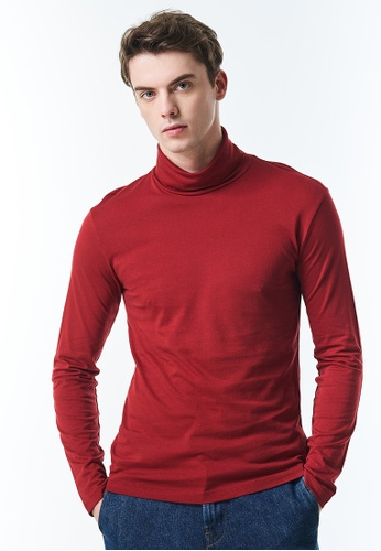 United Colors of Benetton red Long Sleeve Turtleneck T-shirt ECE70AA0141B98GS_1
