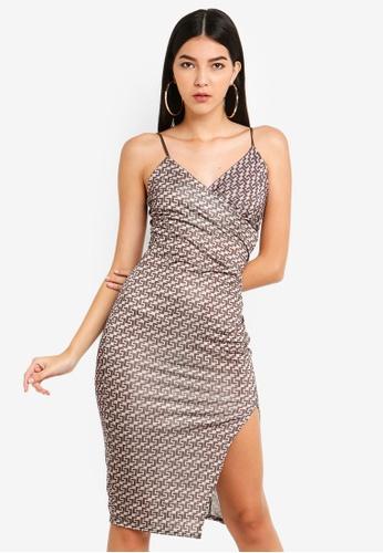 MISSGUIDED 多色 印花Slinky 洋裝 76C52AA03915FEGS_1