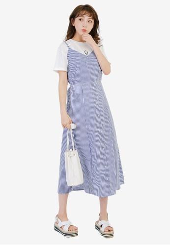 Tokichoi navy Striped Maxi Dress DB077AA74CB77DGS_1