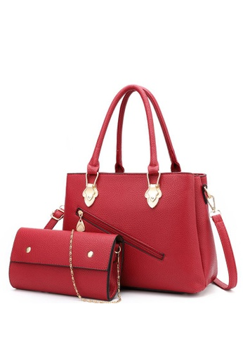 1a09368e7b9 TCWK Korea Style Set of 2pcs Women Fashion Handbag - Red