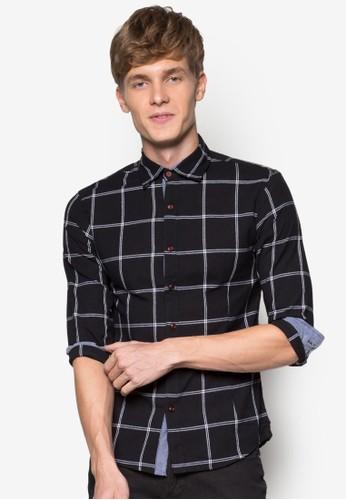 esprit mongkok格紋長袖襯衫, 服飾, 印花襯衫