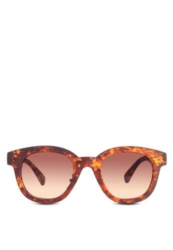 esprit 高雄印花圓框太陽眼鏡, 飾品配件, 方框