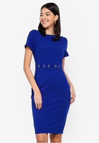 Paper Dolls blue Cobalt Eyelet Dress 10361AAA85C7FDGS_1