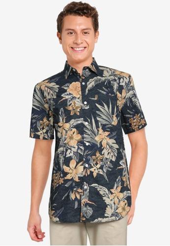 Old Navy navy Short Sleeve Perfect Everyday Print Shirt E9B3AAA18E909FGS_1