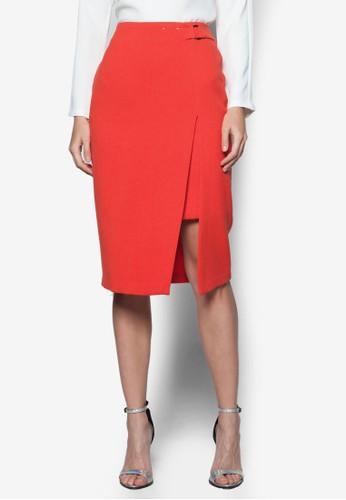 前開衩及膝裙、 服飾、 燦色奪目DorothyPerkins前開衩及膝裙最新折價