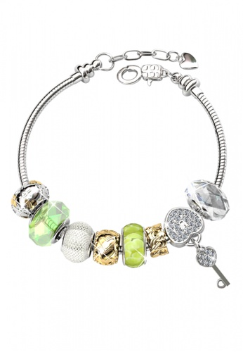 Her Jewellery green and silver Her Jewellery Princess Charm Bracelet (Green) 6C73AAC4DD452CGS_1