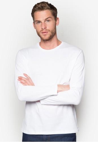 簡約圓領長袖衫, 服飾, esprit香港門市T恤