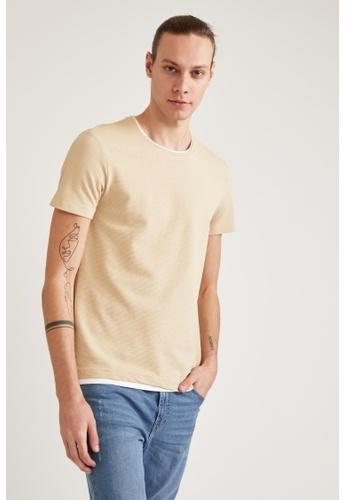 DeFacto grey Short Sleeve Round Neck Basic T-Shirt 5A0D3AA4CE894EGS_1