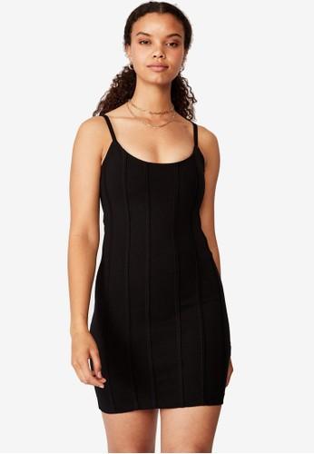 Supre black Skye Panelled Bodycon Dress F10DEAAD2B5775GS_1