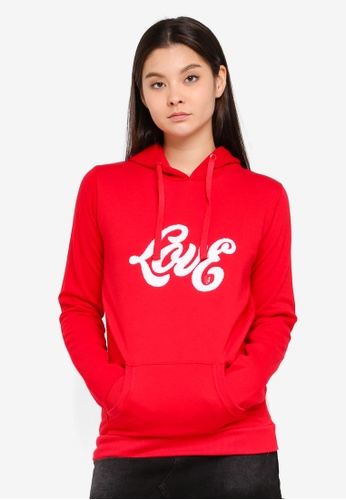 Cotton On red Delevingne Graphic Hoodie B39E0AA3AA7EA1GS_1