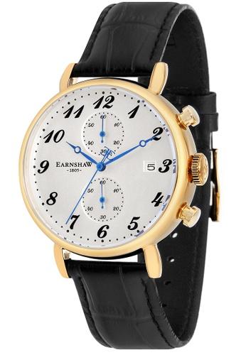 Thomas Earnshaw black Thomas Earnshaw Men's Genuine Leather Strap Watch - ES-8089-04 4FADEAC9E062BEGS_1
