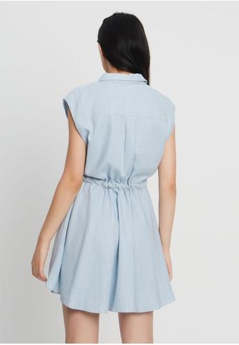 Tussah blue Adelina Mini Dress 94F7CAAA0837A2GS_1