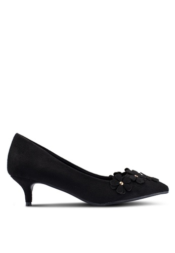 Carlton London 黑色 花卉高跟鞋 72F3FSH34DC9ECGS_1