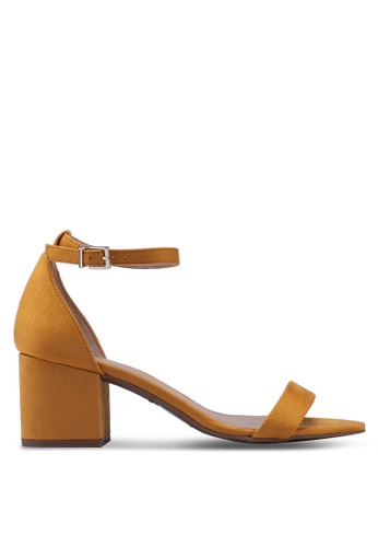 9a3af1be194 Mynah Open Toe Ankle Strap Block Heels