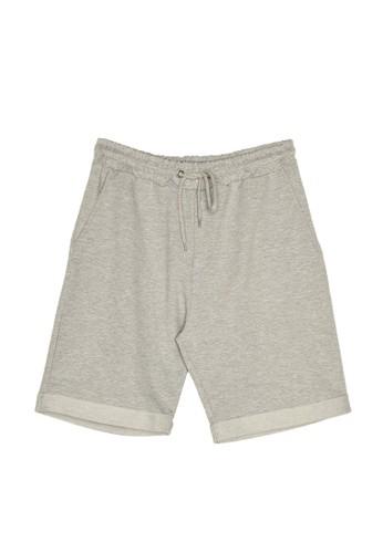 Trendyol grey Regular Sweatshorts 125FAAA8003AC0GS_1