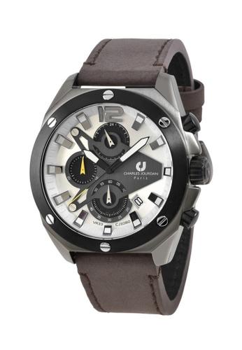 Charles Jourdan silver Charles Jourdan Men Watch Chronograph CJ1080-1715C 43264AC69CBCF9GS_1