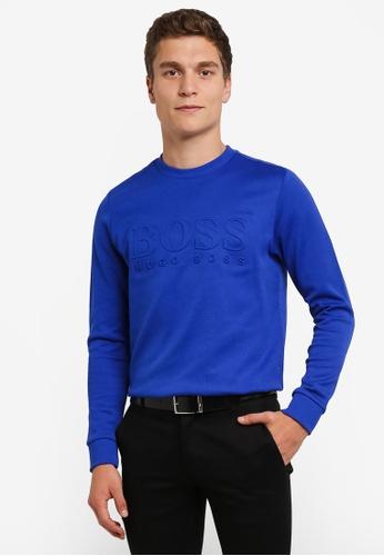 Boss Green blue Salbo Sweatshirt BO516AA0RPO5MY_1