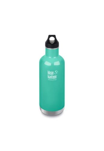 Klean Kanteen green Klean Kanteen Insulated Classic Water Bottle 32Oz (with Loop Cap)(Sea Crest) E9072AC0F4D955GS_1