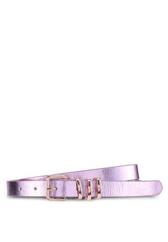 ONLY purple Panka Metallic Belt 2E147ACAC030D2GS_1