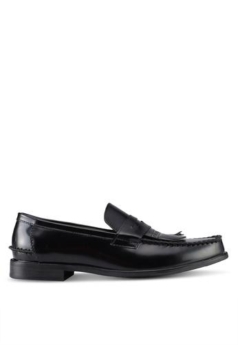 Zalora / Faux Leather Loafers / BLACK