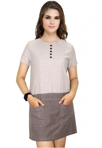 Factor beige and brown FACTOR - ARCHIEVES DRESS-BROWN 7F909AA208BC88GS_1