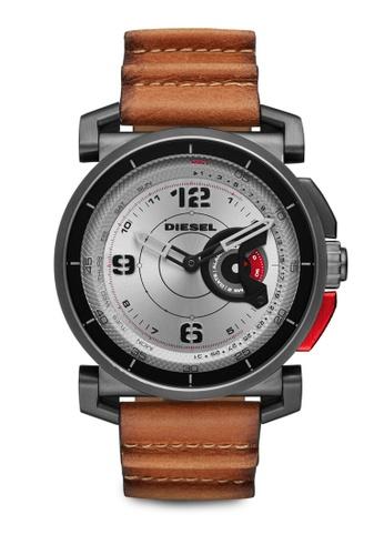 Diesel brown Diesel Light Brown Leather Hybrid Smartwatch DZT1002 DI095AC27TKAMY_1
