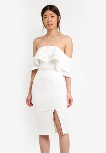 Bardot white Band Dress BA332AA0ST92MY_1