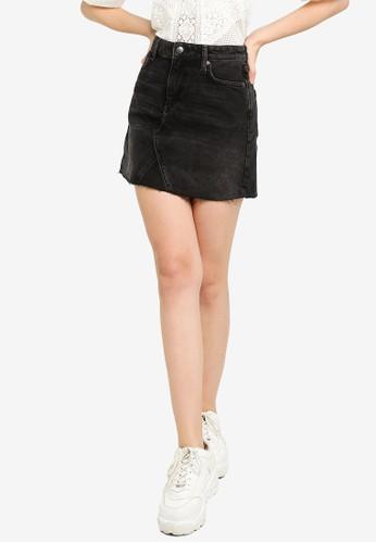 Miss Selfridge black Denim Mini Skirt 94D98AA2166F58GS_1