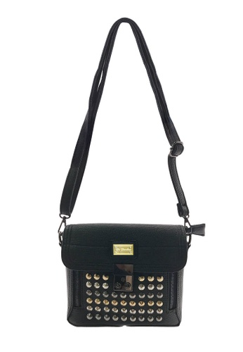 Her Jewellery black Mikeal Bag -  Embellished with Crystals from Swarovski® ECDD3AC7F0DD41GS_1