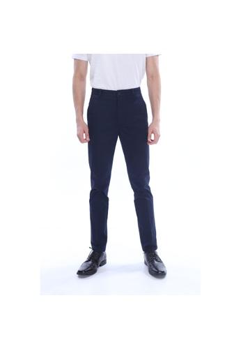 Amar Amran navy Khakis Long Pant A9FA3AA9AFB54DGS_1