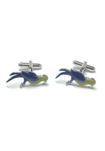 Splice Cufflinks yellow and blue Yellow and Blue Bird Cufflinks SP744AC76FUPSG_1