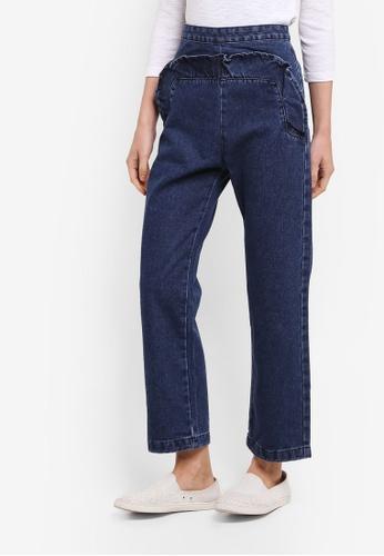 Zalia blue Ruffle Culotte Jeans 988ADAAAC34340GS_1