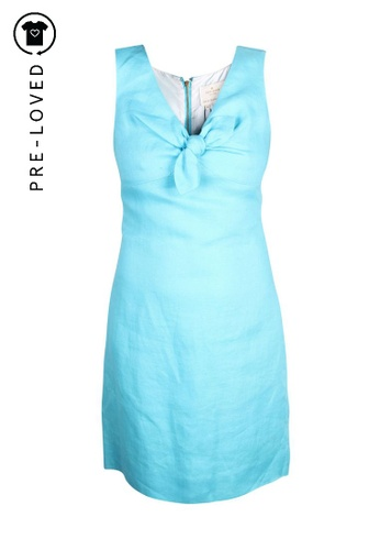 Kate Spade blue Pre-Loved kate spade Bow Linen Dress 68283AACB7A68BGS_1