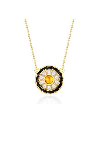 SUNSET 金色 Premium 925 Sliver Pearl Necklace E583DACF1957C8GS_1