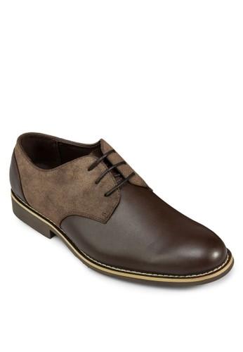 雙色esprit旗艦店拼接皮革德比鞋, 鞋, 鞋