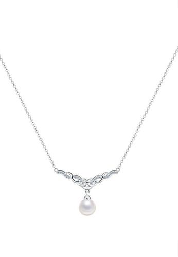 Vivere Rosse silver Vintage Glam Pearl Necklace VI014AC54GUNMY_1