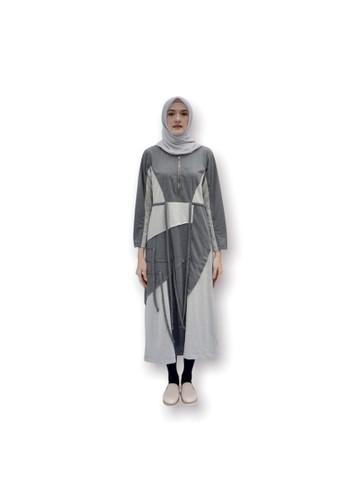 Anggiasari Mawardi grey Sunny Long Sporty Dress Dark Grey 41362AAC328420GS_1