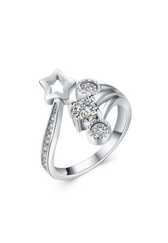 Tiaria white Tiaria Gold Plated Ring Casual Party SVR005--K16 E88ACAC0ED14F2GS_1