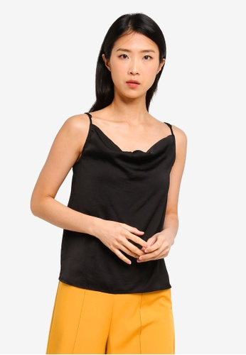 ZALORA BASICS black Basic Cowl Neck Cami Top FC096AAB4BF3BCGS_1