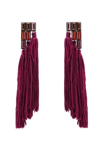 Mango pink Fringe Beads Earrings MA134AC0KKLXPH_1