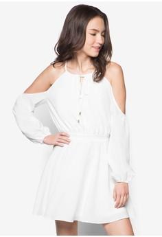 Love Cold Shoulder Peasant Dress