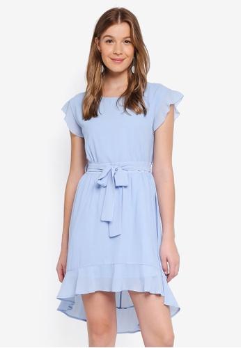 Angeleye blue Waist Tie Summer Dress 45A99AAEC35BE2GS_1