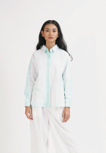 Nona green Oversized Shirt Tie Dye Mint C30D4AAAF6D3BCGS_1